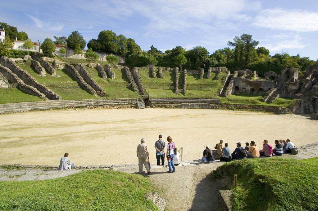 Amphithéatre gallo-romain à Saintes en Charente-Maritime